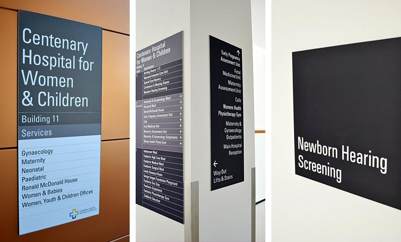 Centenary Hospital Wayfinding Signage