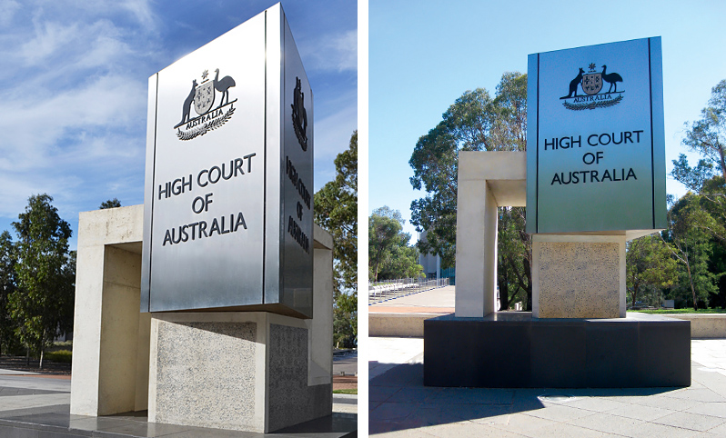 High Court Of Australia Identification Marker