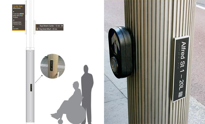 Braille Pedestrian Signage Design Sydney