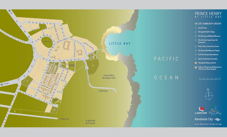 Prince Henry Little Bay Map Illustration