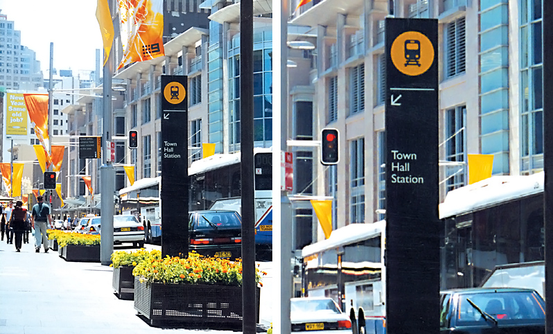 Public Transport Wayfinding System, City of Sydney