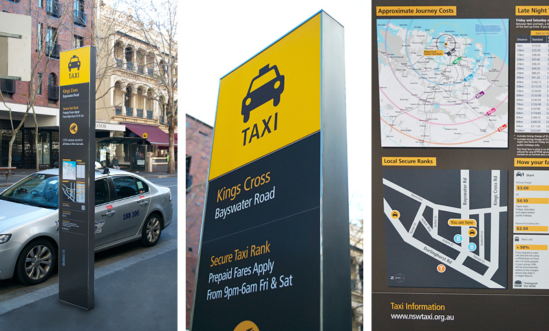 City of Sydney Secure Taxi Rank at Kings Cross