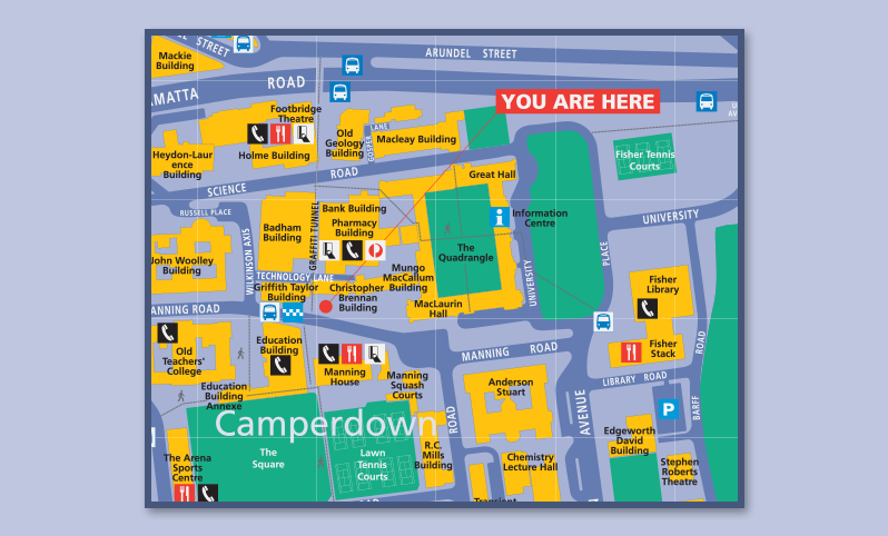 University of Sydney Map Illustration