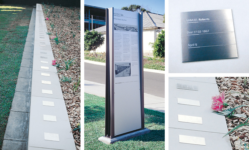 Prince of wales hospital memorial garden interpretive installation design