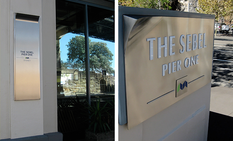 Sebel Pier One Hotel Signage Design